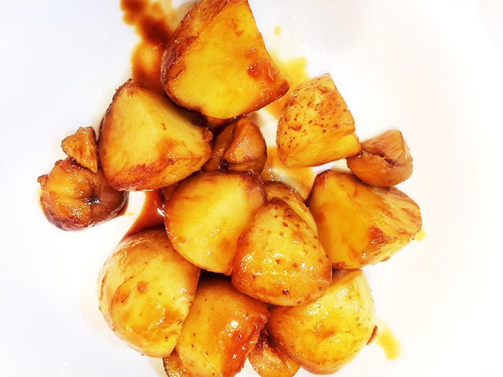 新じゃが芋と栗の煮物【焼き栗レシピ】